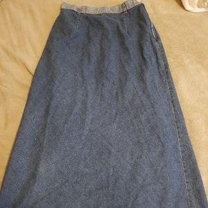 Other - Long denim skirt